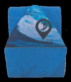 Capa de Malha Atoalhada Azul para Prancha de Surf 6'2 / 6'4