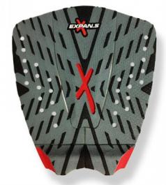 Deck Para Prancha de Surf Expans XGrip Cinza Vermelho