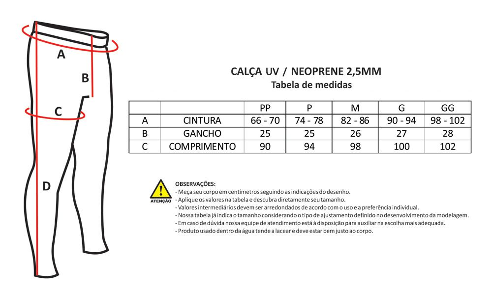 Calça Neoprene Nob 1,5mm Flex