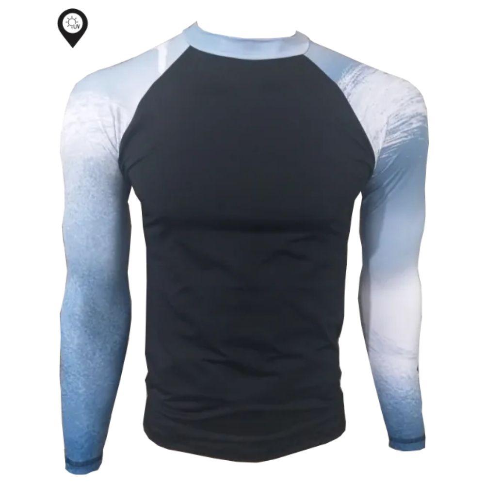 Camisa Lycra Manga Longa Black Proteção Solar UV UPF 50+