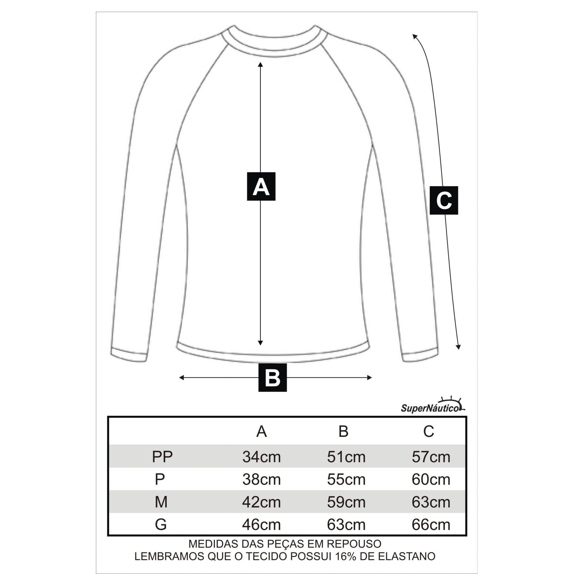 Camisa Lycra Manga Longa Coqueiros Preta Proteção Solar UV UPF 50+
