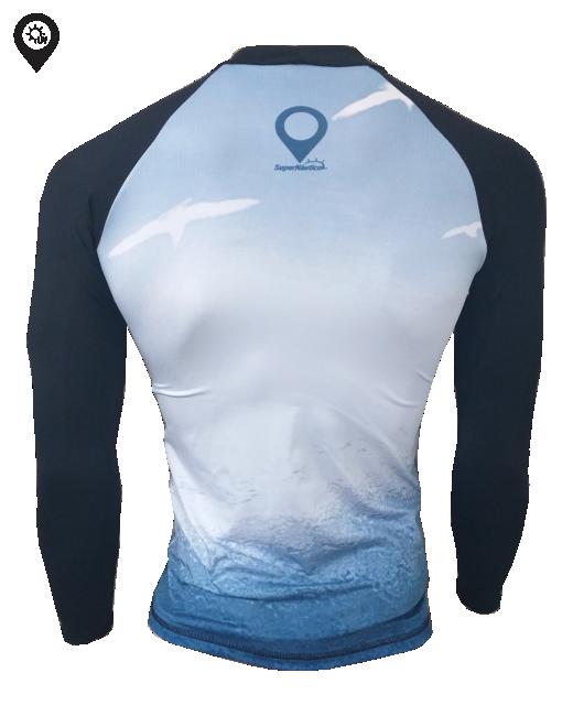 Camisa Lycra Manga Longa Onda Proteção Solar UV UPF 50+