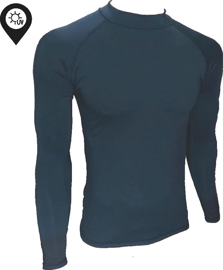 Camisa Lycra Manga Longa Preta Proteção Solar UV UPF 50+