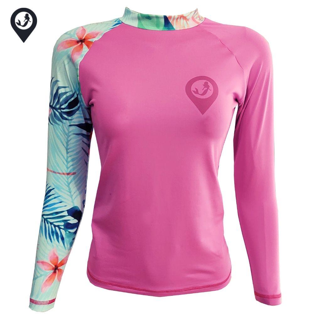 Camisa Lycra Manga Longa Tropical Proteção Solar UV UPF 50+