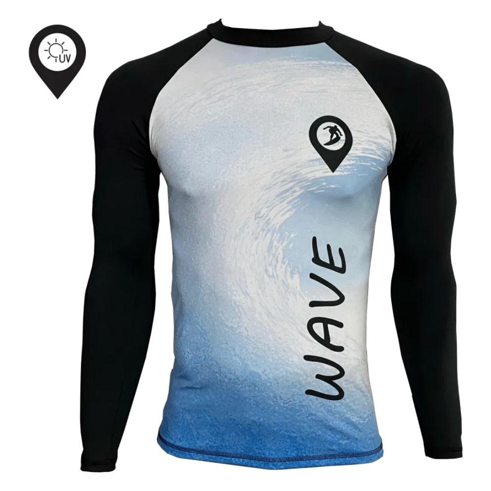 Camisa Lycra Manga Longa Wave Proteção Solar UV UPF 50+