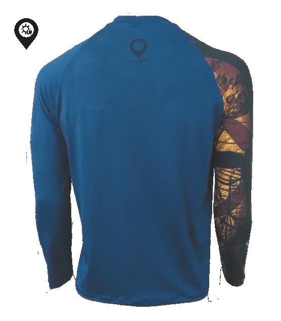 Camiseta Dry Manga Longa Bússola com Proteção Solar UV 50+