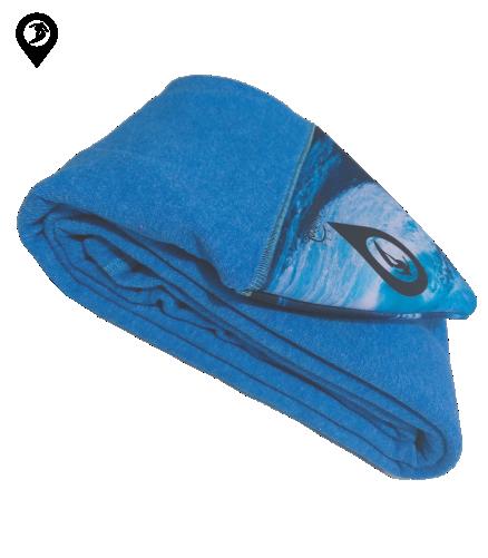 Capa de Malha Atoalhada Azul para Prancha de Surf 5'11 / 6'1