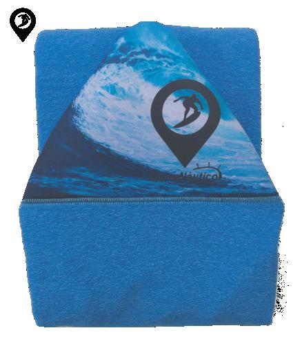 Capa de Malha Atoalhada Azul para Prancha de Surf 5'8 / 5'10