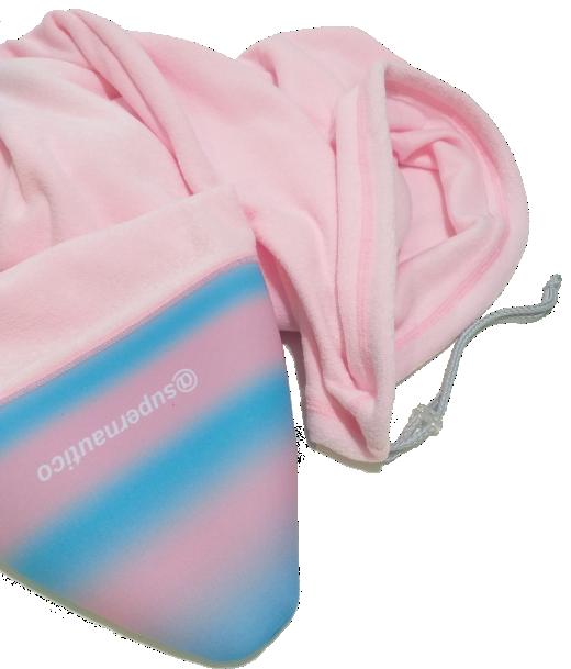 Capa de Malha Atoalhada para Prancha de Surf 6'5/6'8 Rosa