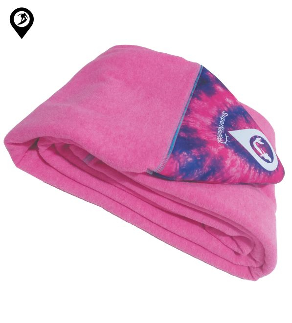 Capa de Malha Atoalhada Tie Dye para Prancha de Surf 6'5/6'8