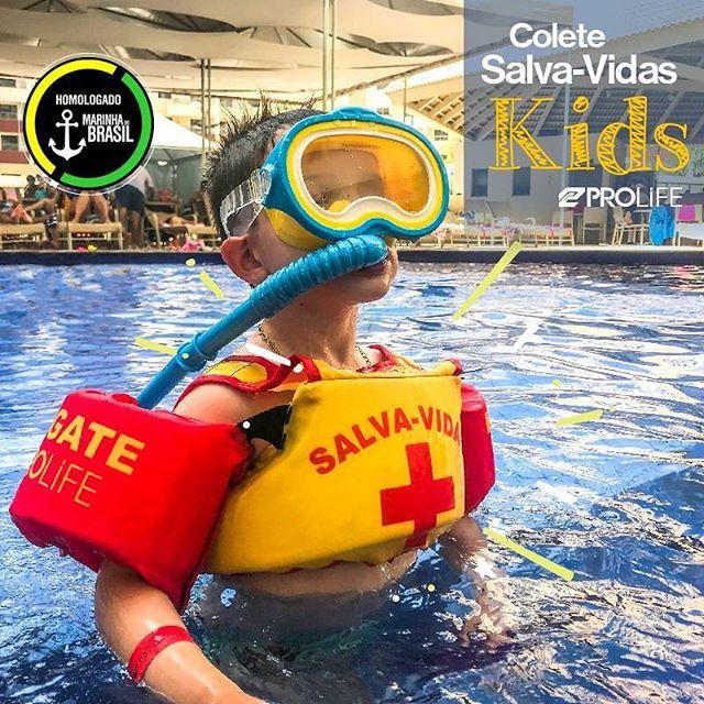 Colete Salva Vidas Kids Prolife Homologado pela Marinha Crazy Shark