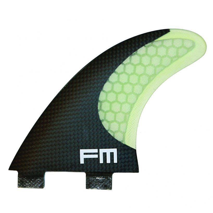 Kit de Quilhas de Carbono Fm Surf Carbon Flex F3 Branco