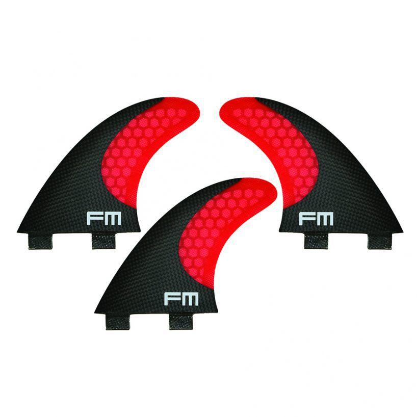 Kit de Quilhas de Carbono Fm Surf Carbon Flex F3 Vermelho