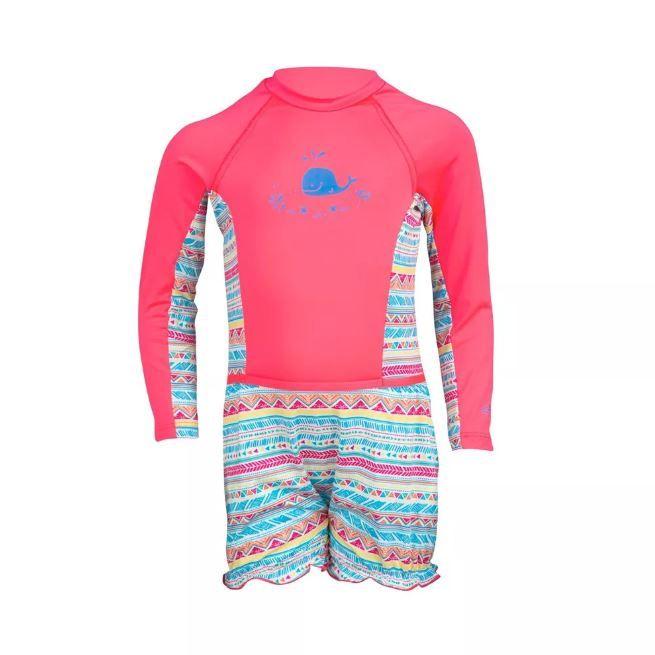 Macaquinho Mormaii Infantil com proteção UV 50+ Rosa