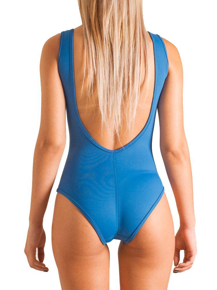Maiô de Neoprene (body) Nob Irmãs Pacelli Azul