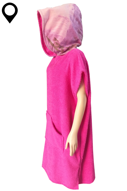 Poncho Toalha Roupão Adulto Feminino Pink Surfista