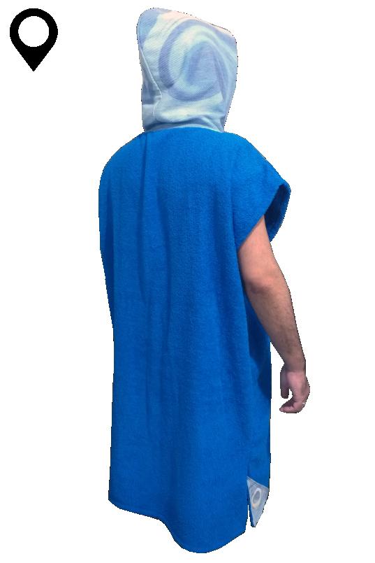 Poncho Toalha Roupão Surf Adulto Masculino Azul Royal