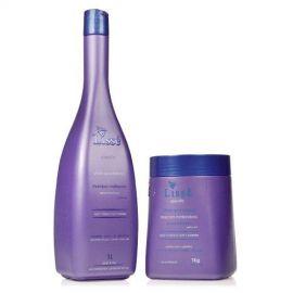 Kit Silver And Blond Profissional Com Shampoo 1 Litro E Mascara De 1 Kilo