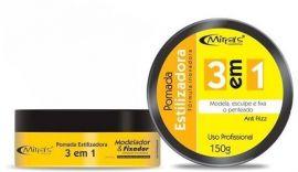 Caixa Com 12  Pomada Mirra's 3 2m 1 Estilizadora Profissional 150 gr ( Amarela)