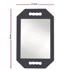 Espelho De Mão Em  E.V.A  40,5x25,8cm