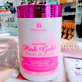 Máscara banho de pérola Pink Gold 1kg  - Natureza Cosméticos