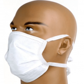 Máscara Descartável não Tecido com Tira e ferrinho cx com 25und