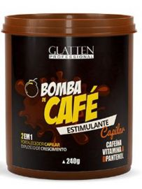 Máscara Estimulante Capilar - Bomba de Café Glatten Professional 240g