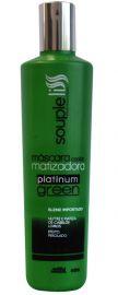 Máscara Matizadora Platinum Green Efeito Perolado 300ml - Souple Liss
