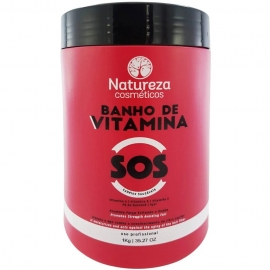 Máscara SOS Banho de Vitamina 1 kg - Natureza Cosméticos