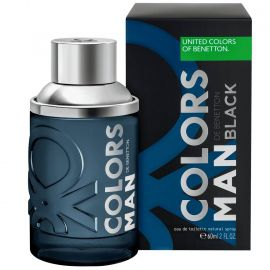 Perfume Masculino Colors Man Black Benetton Eau de Toilette 100 ml