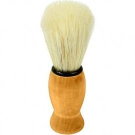 Pincel de Barba Pelo Natural e Cabo de Madeira Importado