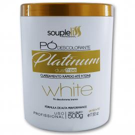 Pó descolorante Platinum Dust Free White – Souple Liss 500g