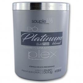 Pó descolorante Profissional Platinum Blond Dust Free Plex 500g - Souple Liss