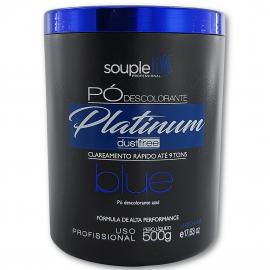 Pó descolorante Profissional Platinum Dust Free Blue 500g - Souple Liss
