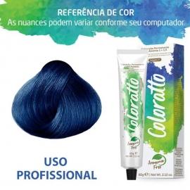 Tonalizante Profissional Coloratto Blue (Azul) 0.80 Itallian Color Coloratto sem amônia 60g