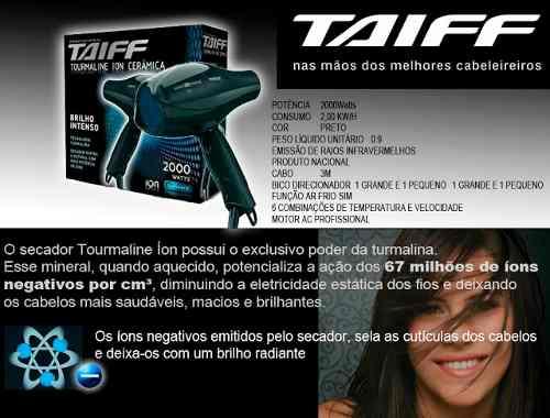Taiff Tourmaline Ion Cerâmica 2000w