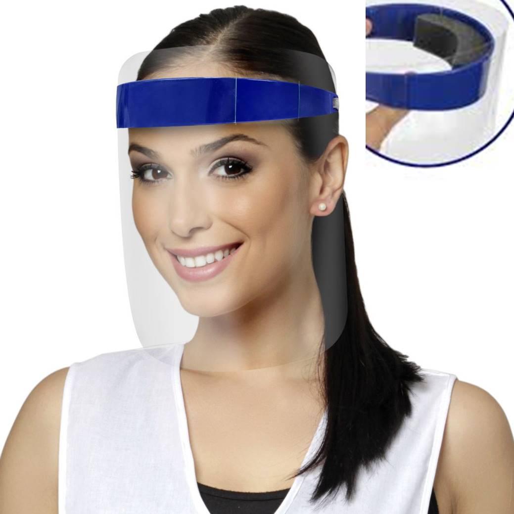 25 Máscara Descartável c/ Tira mais 1 Protetor Facial