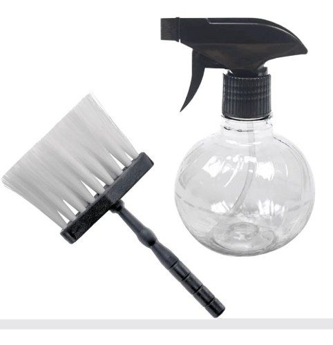 Combo 1 Borrifador De Plástico Para Barbeiro  1  Espanador Importado