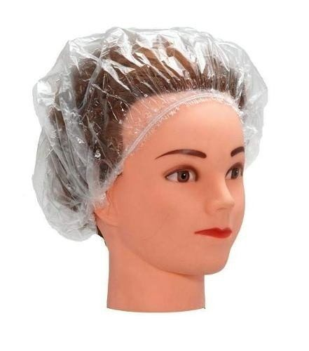 Pacote de Toucas Plásticas Descartáveis para banho - 50 Unidades