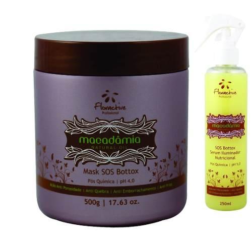 Kit Botox Tratamento Floractive Macadâmia Com Serum E Máscara