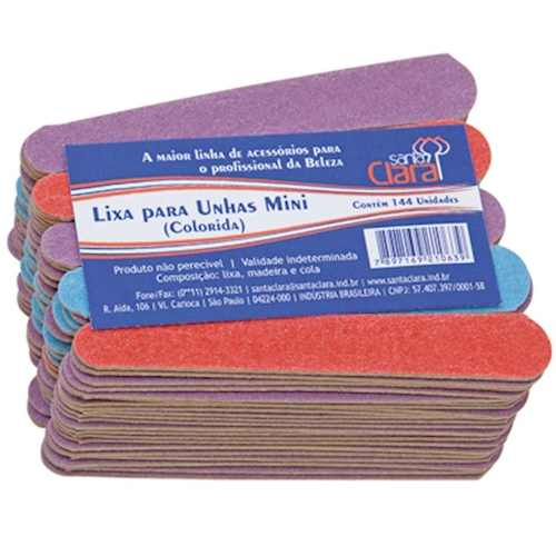 Mini Lixa Para Unha Colorida Com 144 Unidade