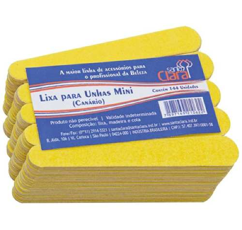 Mini Lixa Para Unha Canário Com 144 Unidade