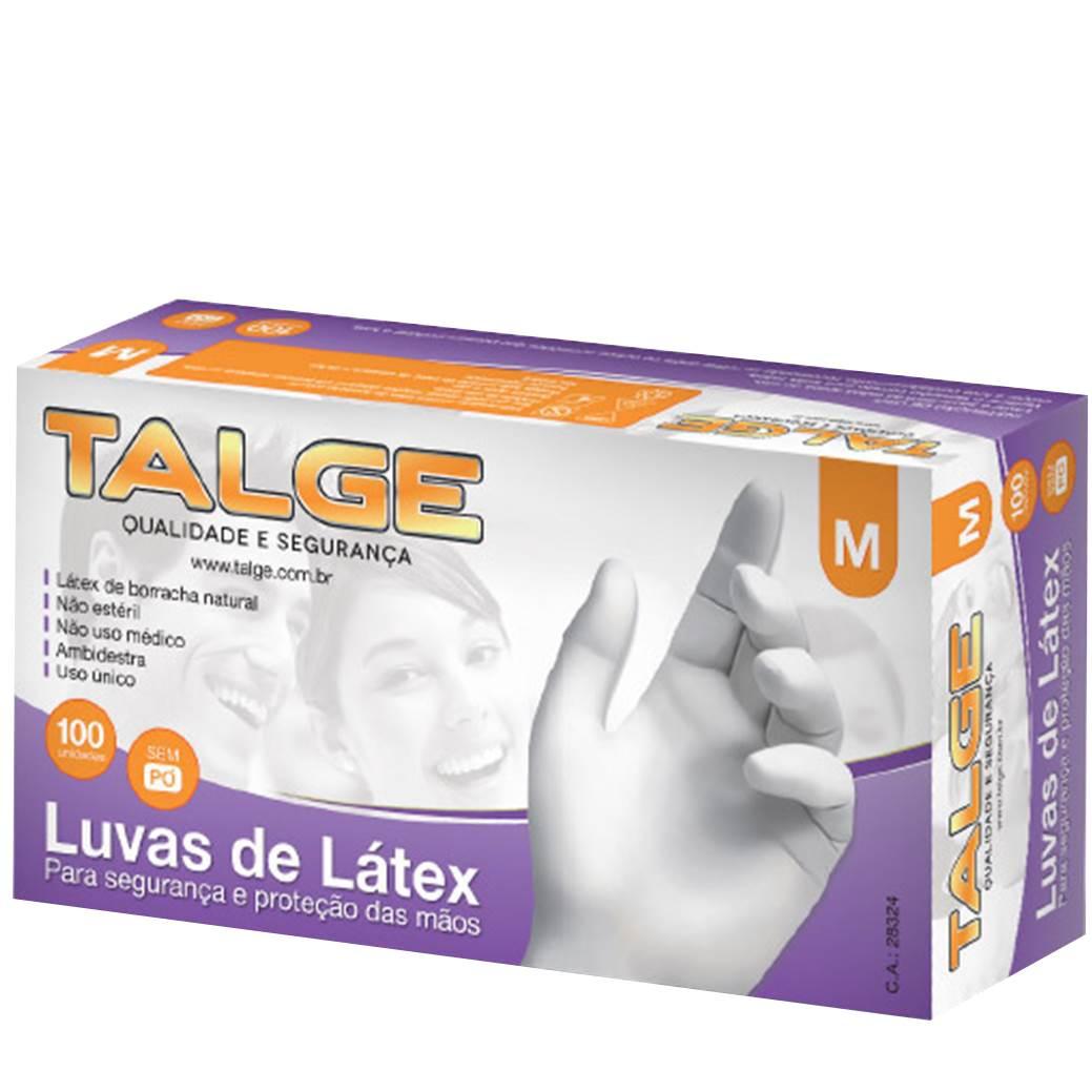 Caixa com 100 Luvas de Vinil  com Pó  Talge, Proteção total contra o corona vírus.