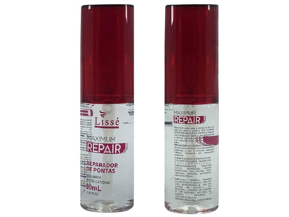 Caixa Com 10 Reparador De Ponta Seductio 30 ml Lisse