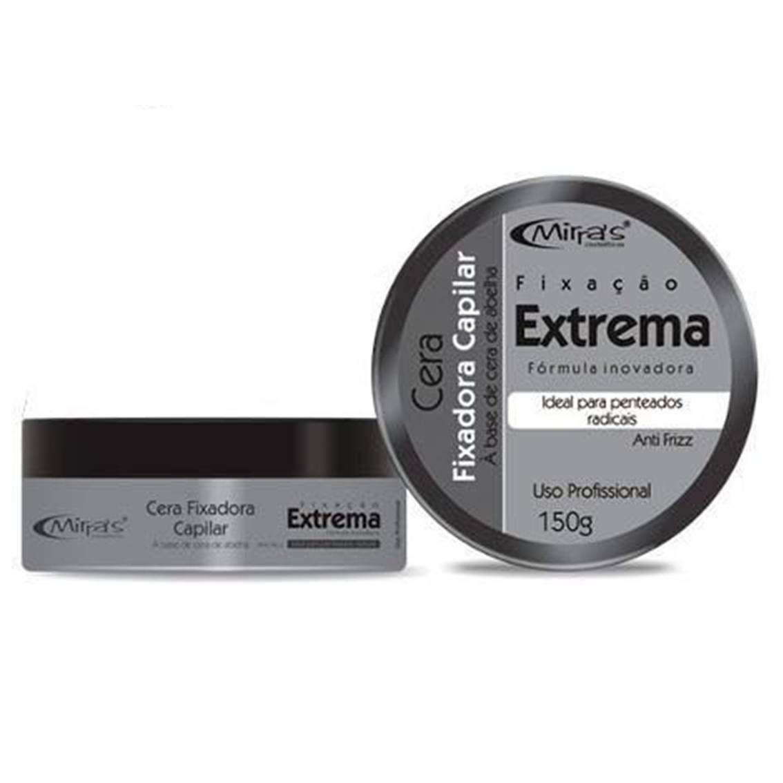 Caixa Com 12 Pomada Cera Fixação Extrema Mirra's 150 gr