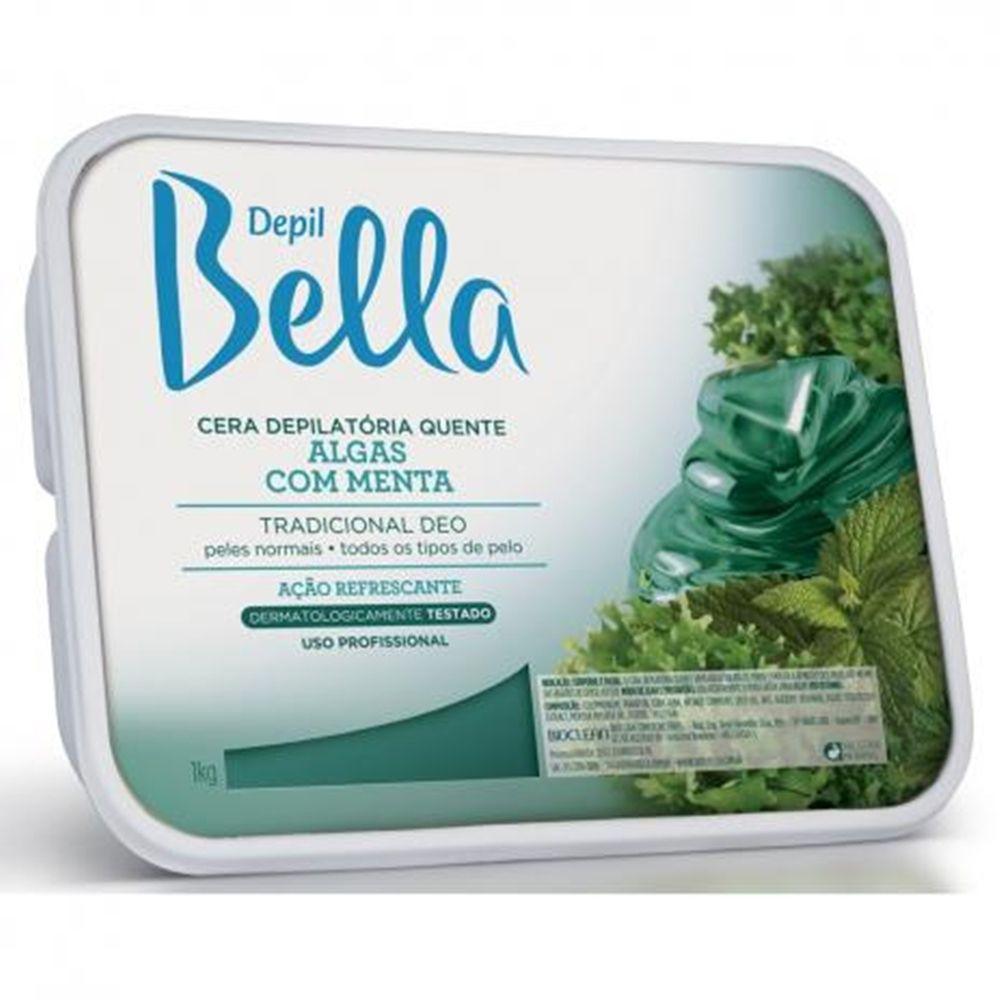 Cera depilatória quente Algas com Menta – Depil Bella 1 kg