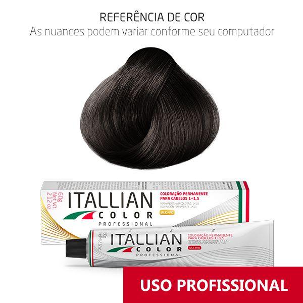 Coloração Professional 5.1 Castanho Claro Cinza Itallian Color 60g