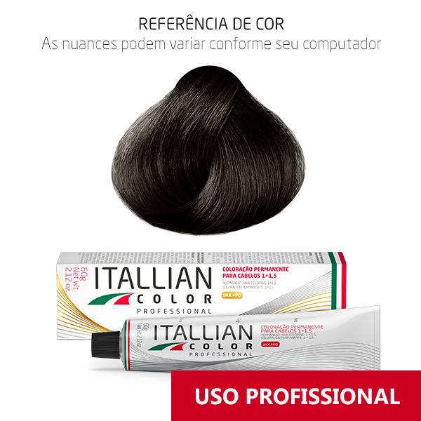 Coloração Profissional Castanho Cinza 4.1 (14) Itallian Color 60g