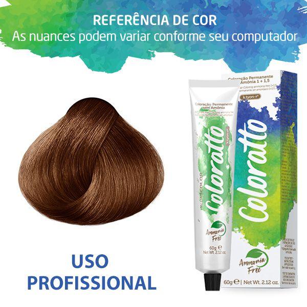Tonalizante Profissinal Louro Claro Cobre 8.4 Itallian Color Coloratto sem amônia 60g