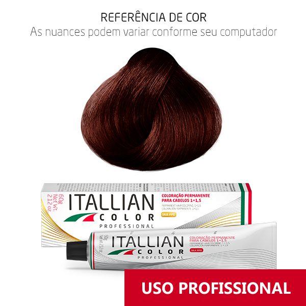 Coloração Profissional Castanho Vermelho Irisado 5.62 (565) Itallian Color 60g